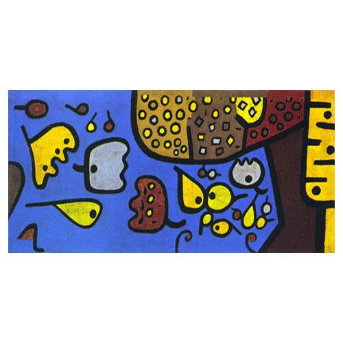 청색위의 과일 - 파울 클레 / 추상화그림 (인테리어액자)