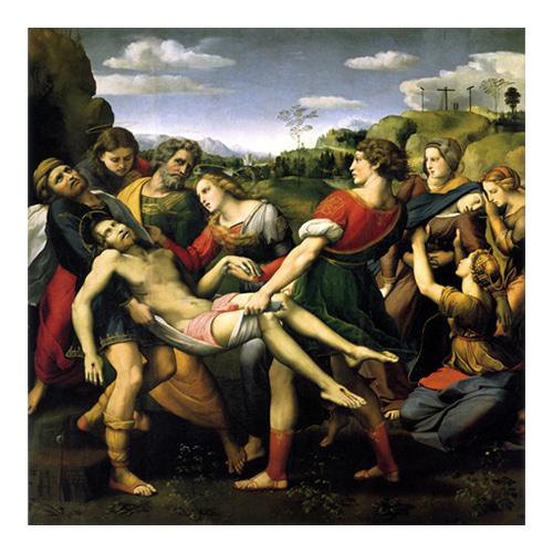 십자가에서 내려지는 그리스도 - 라파엘로 산치오 / 성화그림 (수입원목액자)
