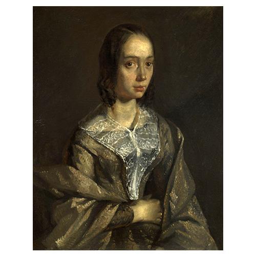 폴린 오노의 누이, 화가의 첫번째 부인 외젠 펠릭스 르쿠르투아 - 장 프랑수아 밀레 / 명화그림 (수입원목액자)